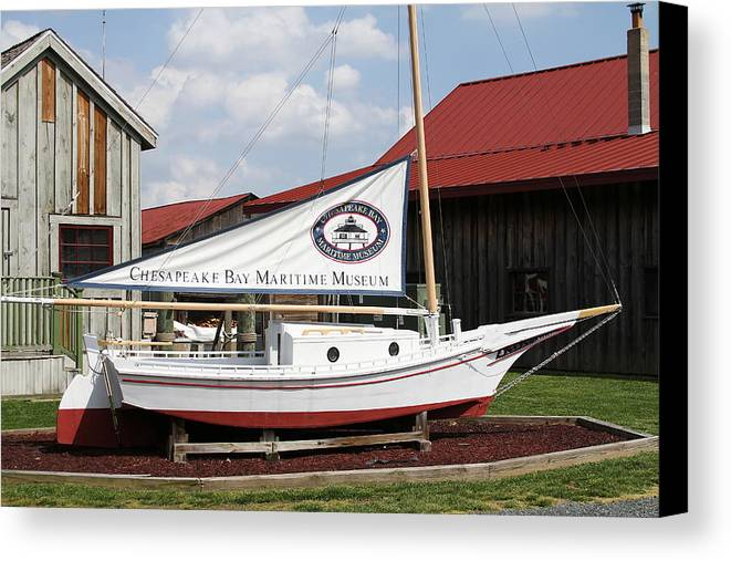 Chesapeake Bay Canvas Print featuring the photograph Chesapeake Bay Maritime Museum by David Byron Keener