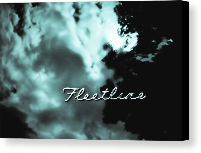 Fleetline Emblem Canvas Print featuring the photograph Chevrolet Fleetline by Phil 'motography' Clark