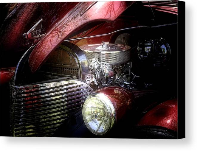 1939 Canvas Print featuring the photograph Chevrolet Master Deluxe 1939 by Tom Mc Nemar