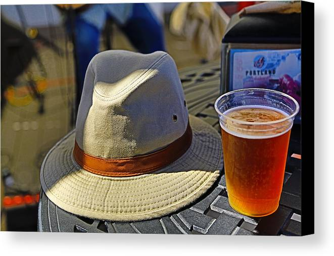 Canvas Hat Canvas Print featuring the photograph Chillin' by John Hoey