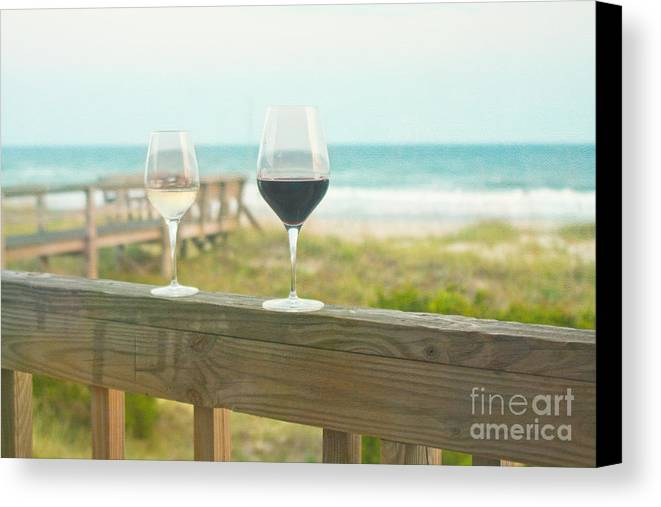 Wine Canvas Print featuring the photograph Choices At The Beach by Kay Pickens