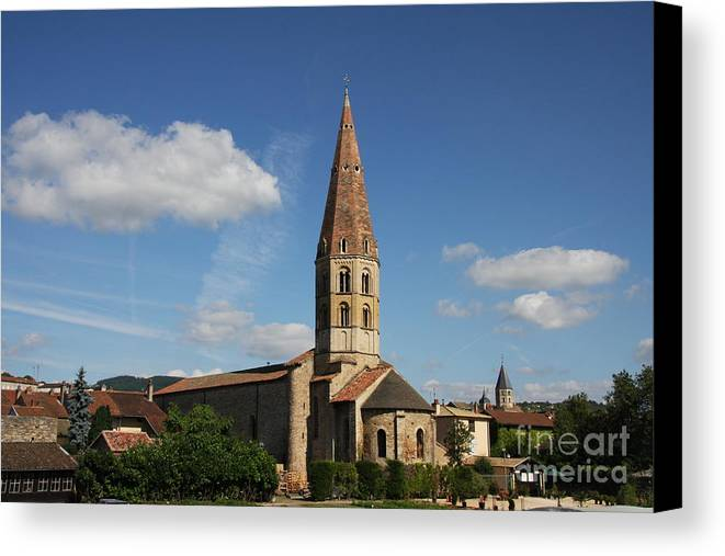 Church Canvas Print featuring the photograph Church Saint Marcel - Cluny by Christiane Schulze Art And Photography