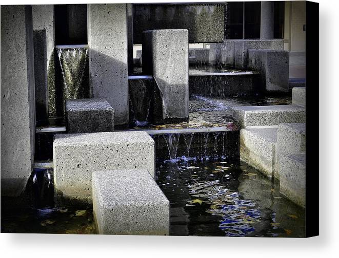 City Fountain Canvas Print featuring the photograph City Fountain by Tikvah's Hope