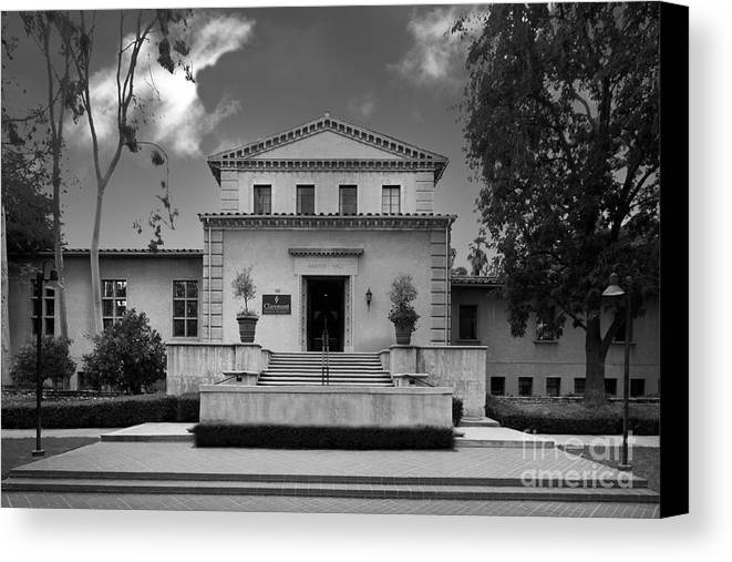 Cgu Canvas Print featuring the photograph Claremont Graduate University Harper Hall by University Icons