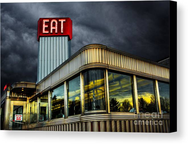 Diner Canvas Print featuring the photograph Classic American Diner by Diane Diederich