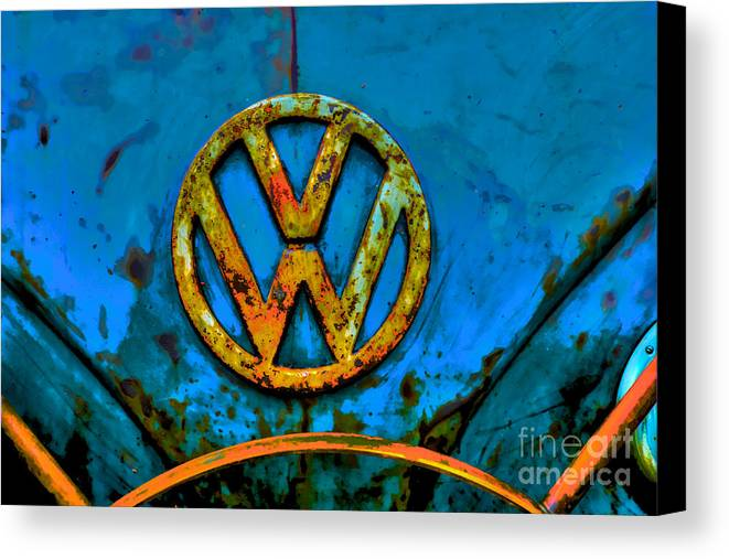 Volkswagen Camper Canvas Print featuring the photograph Classic Camper by Eben Photoart