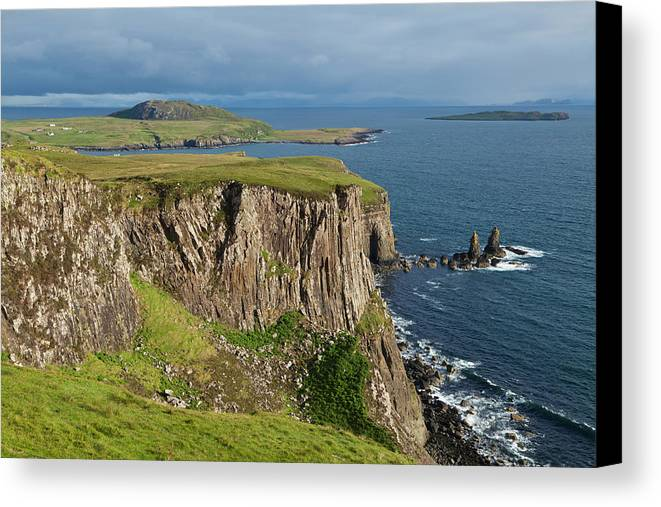 Rugged Canvas Print featuring the photograph Cliffs Along The Rugged North Coast by Carl Bruemmer