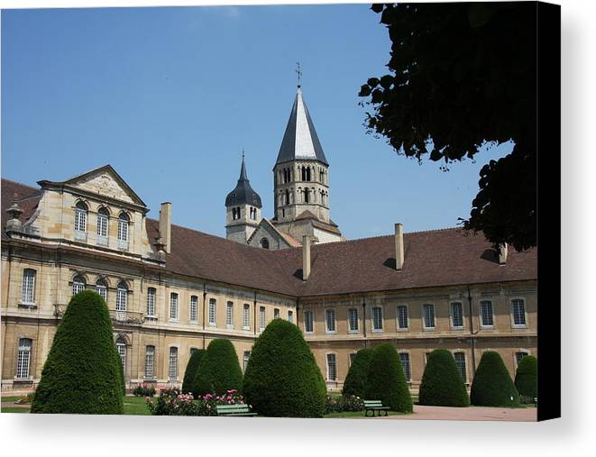 Cloister Canvas Print featuring the photograph Cloister Cluny Garden View by Christiane Schulze Art And Photography