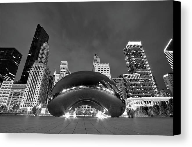 3scape Photos Canvas Print featuring the photograph Cloud Gate And Skyline by Adam Romanowicz
