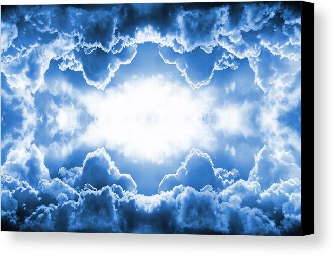 Moody Canvas Print featuring the digital art Clouds by Steve Ball