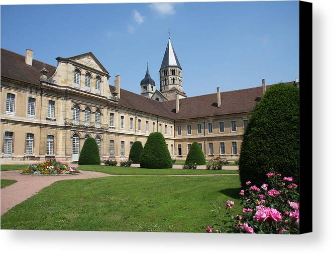 Cloister Canvas Print featuring the photograph Cluny Abbey - Burgundy by Christiane Schulze Art And Photography