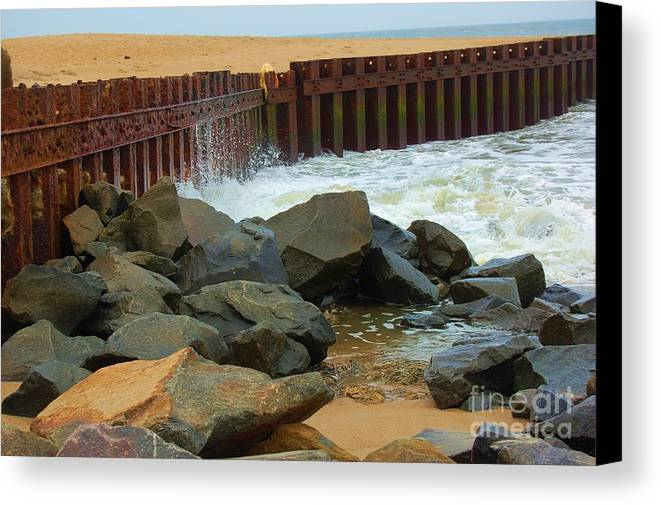 Water Canvas Print featuring the photograph Coast Of Carolina by Debbi Granruth