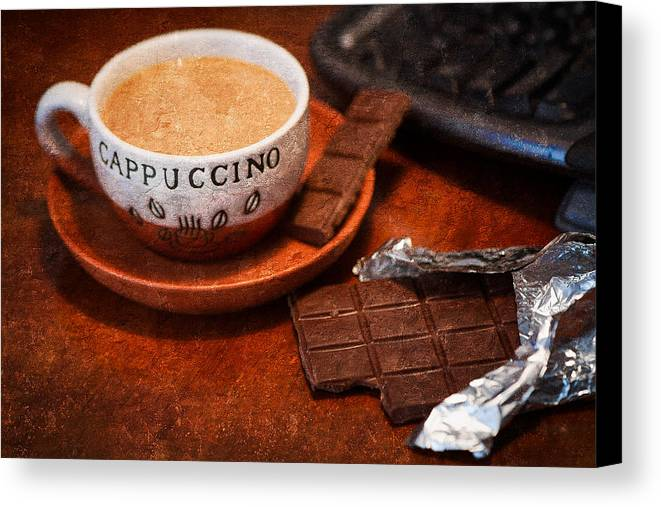 Coffee Canvas Print featuring the photograph Coffee Break by Alexander Senin