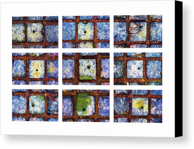 Abstract Canvas Print featuring the photograph Collage The Theory Of Black Holes by Alexander Senin
