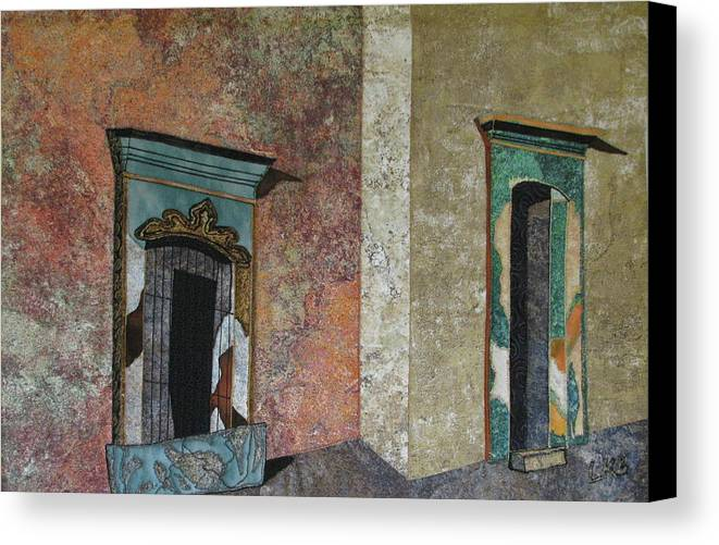 Art Quilts Tapestries - Textiles Canvas Print featuring the tapestry - textile Colonial Mexico by Lynda K Boardman