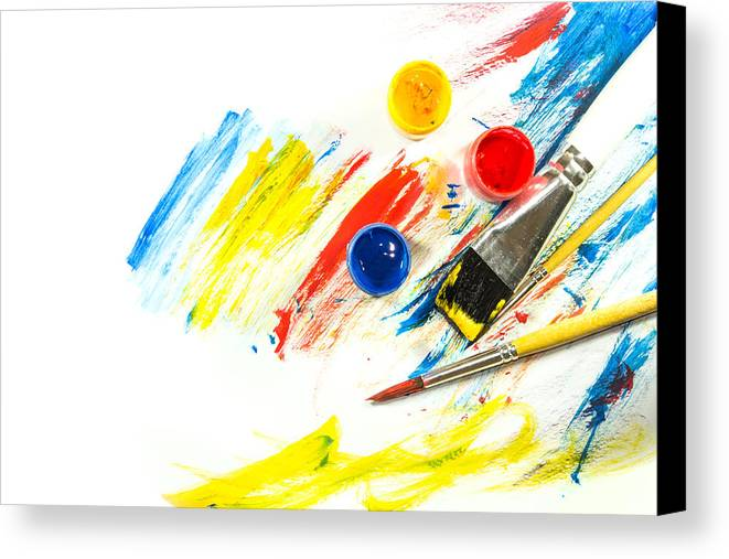 color paint background and brush canvas print canvas art by
