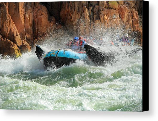 America Canvas Print featuring the photograph Colorado River Rafters by Inge Johnsson