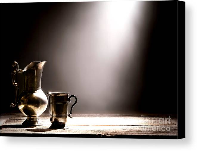 Pewter Canvas Print featuring the photograph Come Let Us Drink About by Olivier Le Queinec