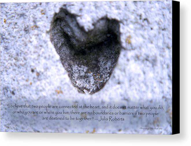 Heart Canvas Print featuring the photograph Connected At Heart by Safe Haven Photography Northwest