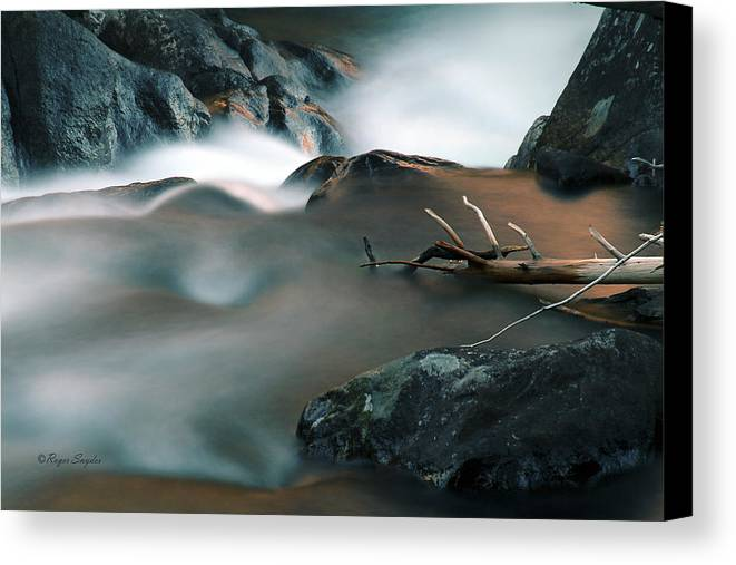 Unique Canvas Print featuring the photograph Copper Stream 2 by Roger Snyder