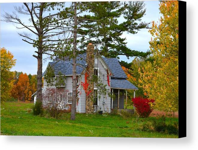 Country Cottage Canvas Print featuring the photograph Country Cottage by Julie Dant