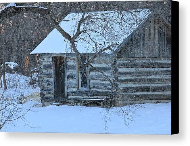 Cabin Canvas Print featuring the photograph Cozy Hideaway by Penny Meyers