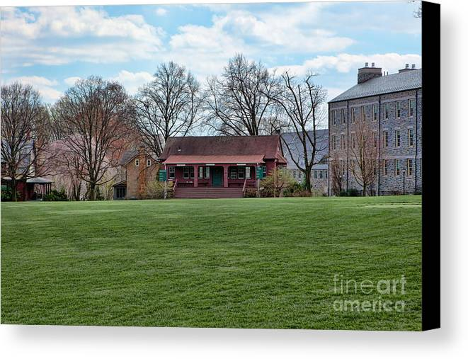 Haverford Canvas Print featuring the photograph Cricket Field Haverford College by Kay Pickens
