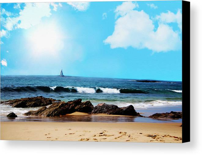 Beach Canvas Print featuring the digital art Crystal Cove by Tanya Cordy