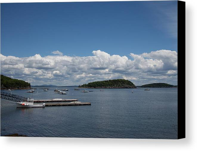 Maine Canvas Print featuring the photograph Cumulus by Cathy Underwood
