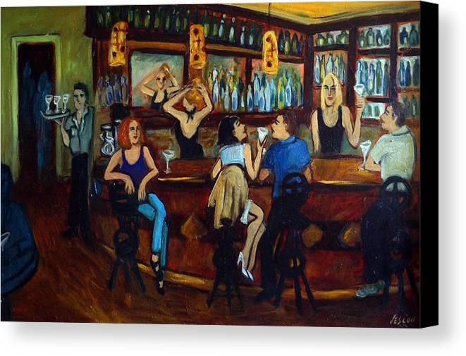 Restaurant Canvas Print featuring the painting Da Da by Valerie Vescovi
