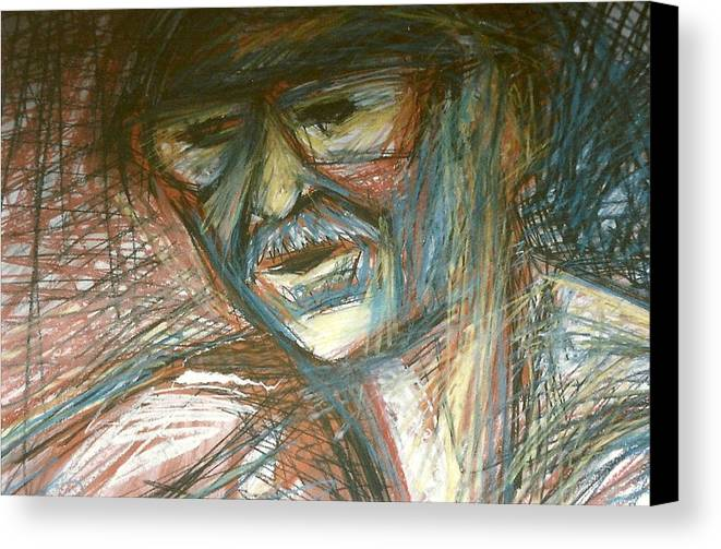 Man Canvas Print featuring the drawing Dad by Carrie Maurer
