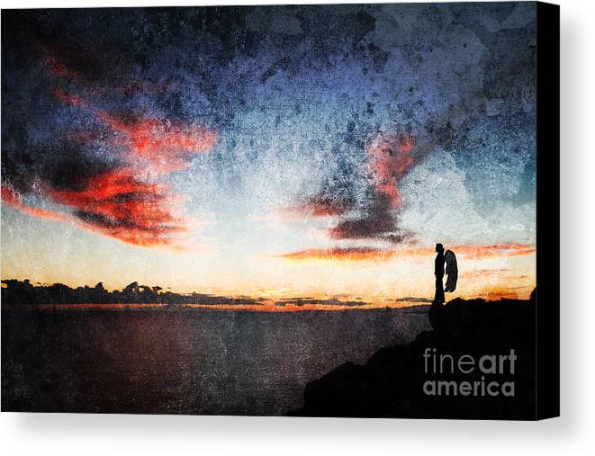 Angel Canvas Print featuring the photograph Dark Angel by Stelios Kleanthous