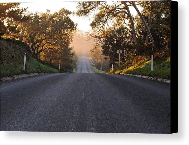 Asphalt Canvas Print featuring the photograph Dark To Light Road by View Factor Images