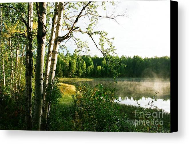 Lake Canvas Print featuring the photograph Dawn's First Light by Frank Townsley