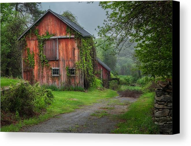 Bucolic Canvas Print featuring the photograph Days Gone By by Bill Wakeley