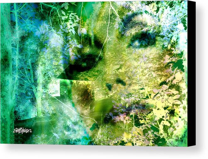 Deep Woods Wanderings Canvas Print featuring the digital art Deep Woods Wanderings by Seth Weaver