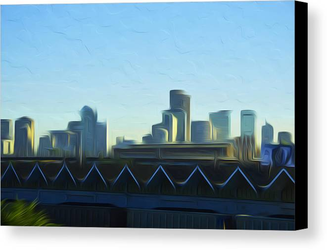 Digital Art Canvas Print featuring the photograph Denver V2 by Jimi Bush