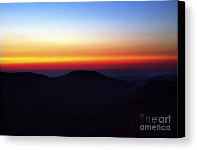 Evening Canvas Print featuring the photograph Desert Sunset by Nir Ben-Yosef