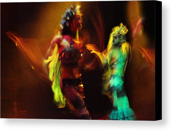 Dance Canvas Print featuring the photograph Diabolic. Passionate Dance Of The Night Angels by Jenny Rainbow