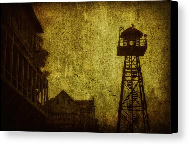 Alcatraz Canvas Print featuring the photograph Diminished Dawn by Andrew Paranavitana