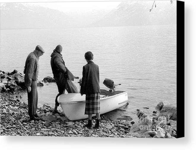 Boat Canvas Print featuring the photograph Dingie On The Tegernsee by Julie Von Knorr Wedekind