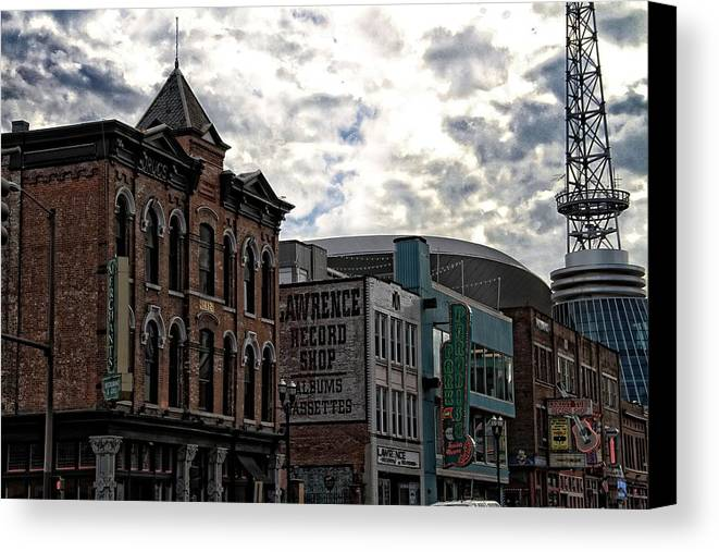 Downtown Nashville Canvas Print featuring the photograph Downtown Nashville by Dan Sproul