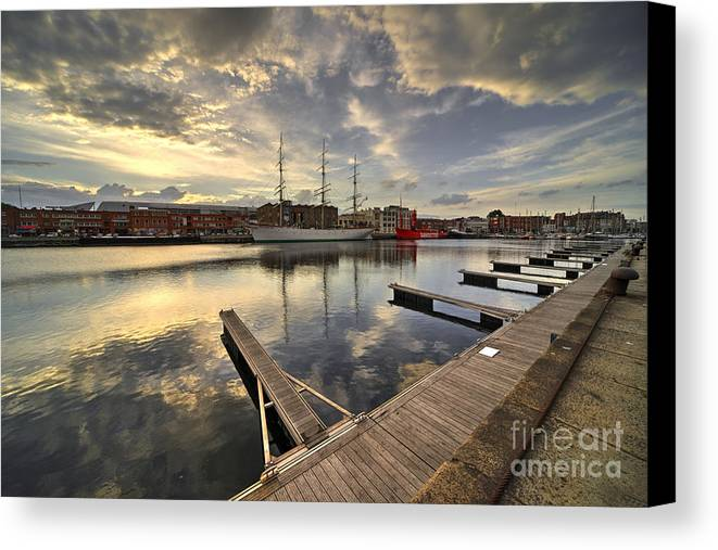Dunkirk Canvas Print featuring the photograph Dunkirk Quay by Rob Hawkins
