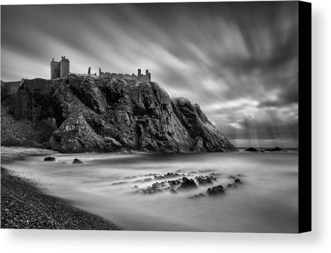 Dunnottar Castle Canvas Print featuring the photograph Dunnottar Castle 2 by Dave Bowman