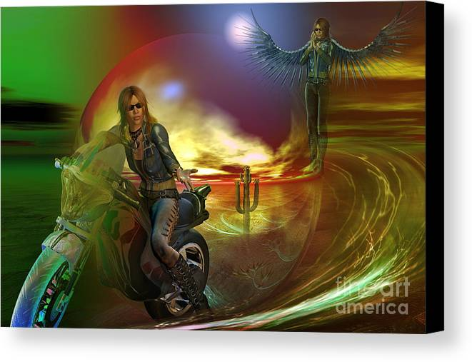 Duplicity Canvas Print featuring the digital art Duplicity by Shadowlea Is