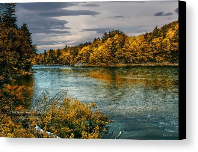 Androscoggin River Canvas Print featuring the photograph Early Autumn Along The Androscoggin River by Bob Orsillo