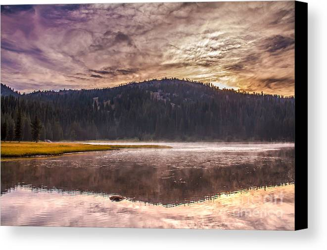 Anthony Lake Canvas Print featuring the photograph Early Morning Lake Light by Robert Bales
