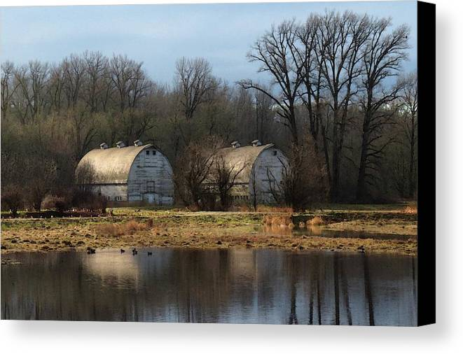 Old Barns - Wa Canvas Print featuring the photograph Early Spring by I'ina Van Lawick