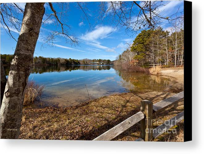 Early Spring On Long Pond Canvas Print featuring the photograph Early Spring On Long Pond by Michelle Wiarda