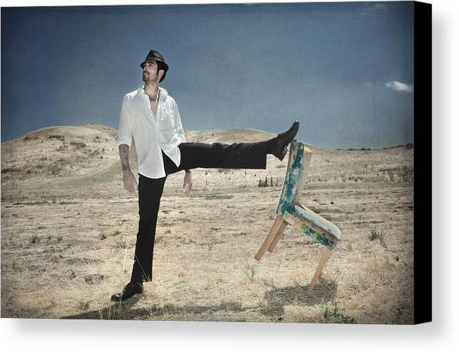Man Canvas Print featuring the photograph Easy Breezy Cool by Laurie Search